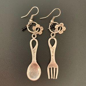 Culinary Spoon Fork earring